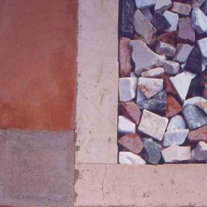 progetto del giardino e della pavimentazione esterna su abitazione a Ca' Savio