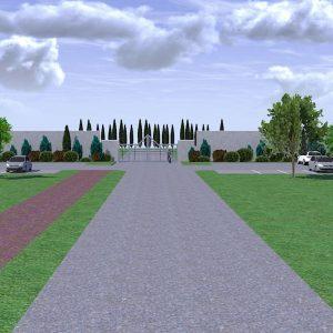sistemazioni esterne all'area parcheggio, cancello e studio del verde presso cimitero di cavallino treporti