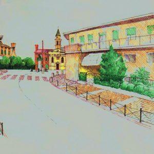 marciapiedi di collegamento tra piazza Cavallino e centro sportivo comunale architetto