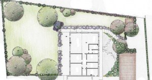 un giardino semplice